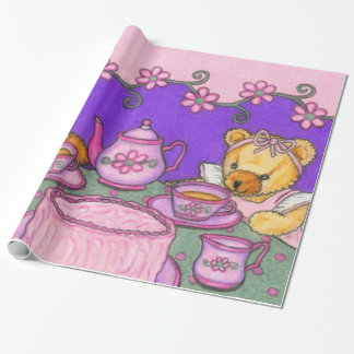 Tea Party ~ Teddy Bear Gift Wrap ~ Wrapping Paper