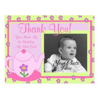 Tea Party Thank You Postcard