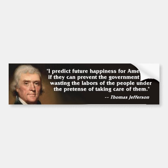 Tea Party - Thomas Jefferson Bumper Sticker