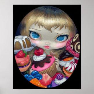 Tea Party Treats ART PRINT Alice in Wonderland