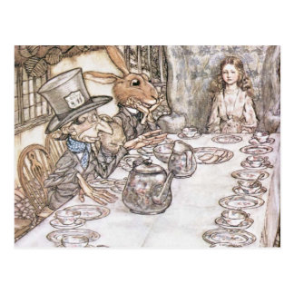 Tea Party with the Mad Hatter Postcard