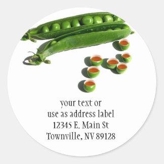 Tea Peas - Peas in a Pod with Tea Pea Cups Classic Round Sticker