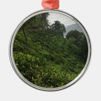 Tea Plantation Metal Ornament