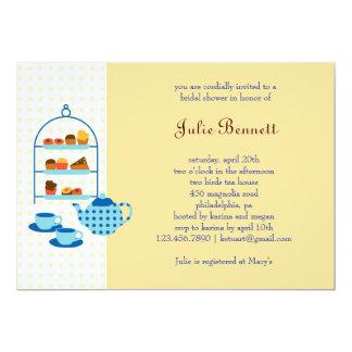 "Tea Pot and Pastries Bridal Shower Invitation 5"" X 7"" Invitation Card"