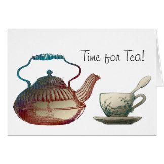 Tea Pot and Tea Cup Art Greeting Card