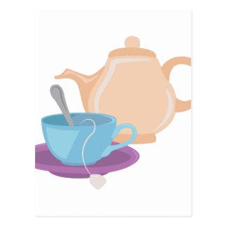 Tea Pot & Cup Postcard