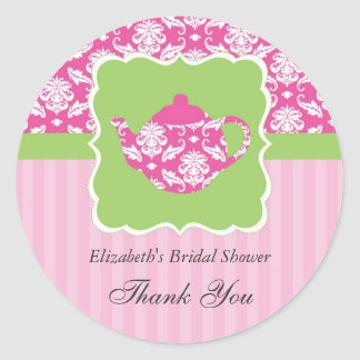 Tea Pot Favor Seal Sticker