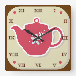 Tea Pot Retro - Kitchen Set - Clock
