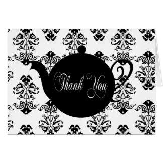 Tea Pot Thank You Greeting Card