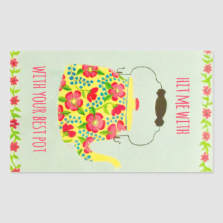 Tea Pot Wrapping Paper Sticker