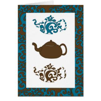 Tea Pots 3 Greeting Cards