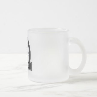 Tea-Rex Frosted Glass Coffee Mug