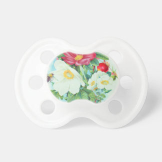 tea rose art pacifier