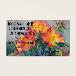 Tea Rose Business Cards