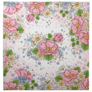 Tea Rose napkin set (pink)