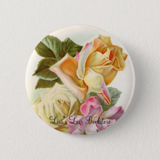 Tea Roses 2 Inch Round Button