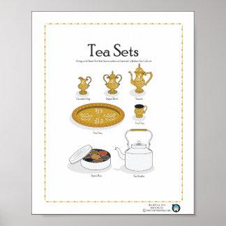 TEA SETS, Indian/Arabian, 8X10 Poster