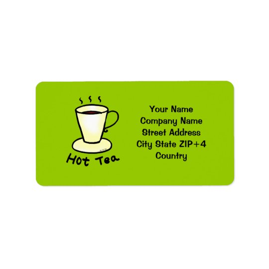 Tea shop return address label