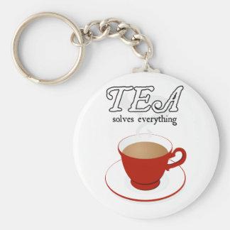 Tea Solves Everything Keychain