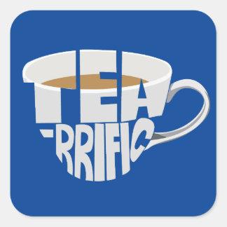 tea square sticker