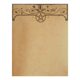 TEA STAINED PAPER Pentacle Enchanted Letterhead