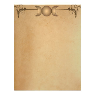 TEA STAINED PAPER Triple Moon Enchanted Letterhead