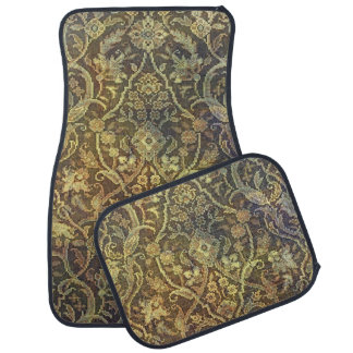Tea Stained Vintage Pattern Car Liners