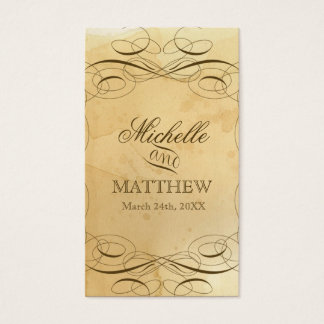 Tea Stained Vintage Wedding 1 - Favor Gift Tags