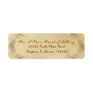 Tea Stained Vintage Wedding 1 - Matching Labels