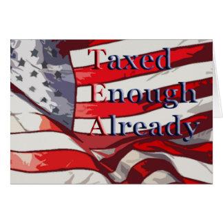 TEA - Taxed Enough Already Flag Background Greeting Card
