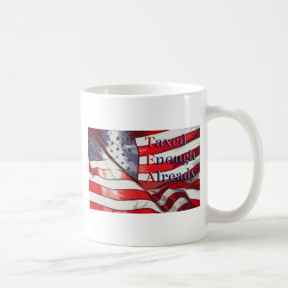 TEA - Taxed Enough Already Flag Background Mug