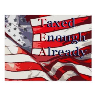 TEA - Taxed Enough Already Flag Background Postcard