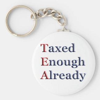 TEA - Taxed Enough Already Key Chain