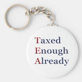 TEA - Taxed Enough Already Keychains