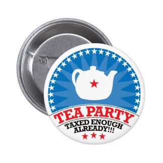 TEA, Taxed Enough Already Party 2 Inch Round Button