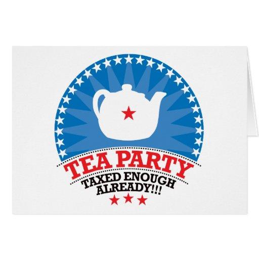 TEA, Taxed Enough Already Party Cards