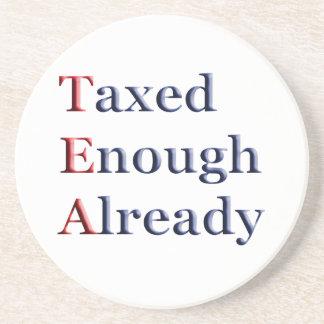 TEA - Taxed Enough Already Party Coasters