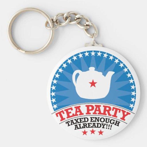 TEA, Taxed Enough Already Party Keychains
