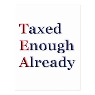 TEA - Taxed Enough Already Postcard
