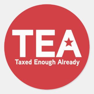 TEA Taxed Enough Already Sticker