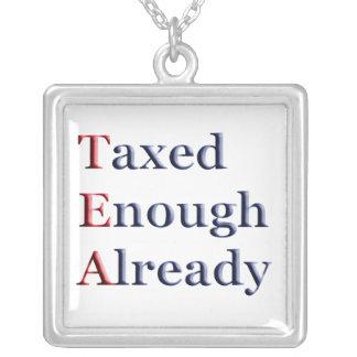 TEA - Taxed Enough Already Tea Party Necklace