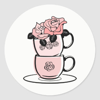 Tea Teacup Bridal Shower Favor Sticker