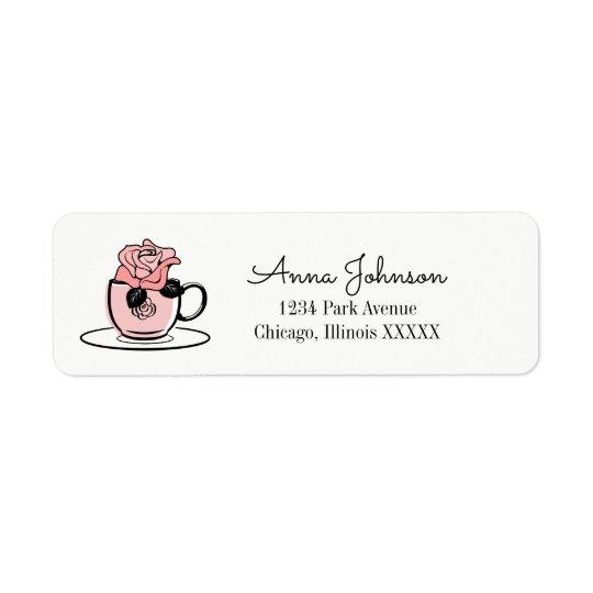 Tea Teacup Bridal Shower Return Address Label