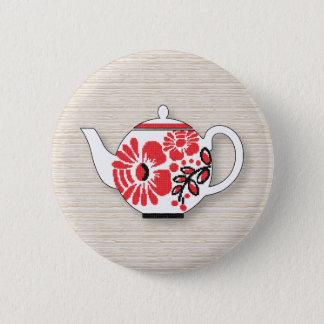 Tea teapots 2 inch round button