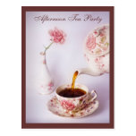 Tea Time, Afternoon Tea Party Post Cards