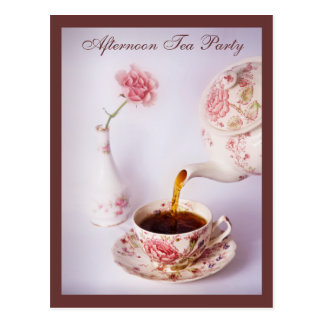 Tea Time, Afternoon Tea Party Postcard