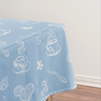 Tea time airy blue tablecloth