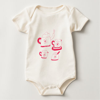 Tea Time Baby American Apparel Organic Bodysuit