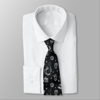 Tea Time Black•Double-Sided Tie