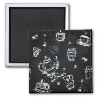 Tea Time Black Magnet